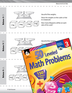 Measurement and Data Leveled Problems: Weight Word Problems