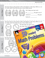 Measurement and Data Leveled Problems: Which Time Makes Sense?
