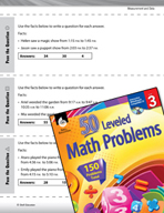 Measurement and Data Leveled Problems: Write the Question