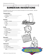 Mesopotamia and the Near East Critical Thinking Activities and Brain Teasers