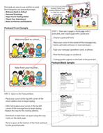 Monthly Themed Postcards for Teachers by Karen's Kids