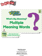 Multiple Meaning Words - What's My Meaning? Literacy Center