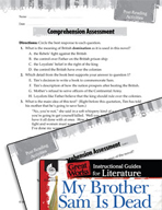 My Brother Sam Is Dead Comprehension Assessment (Great Works Series)