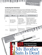 My Brother Sam Is Dead Leveled Comprehension Questions (Gr