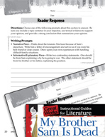 My Brother Sam Is Dead Reader Response Writing Prompts (Great Works Series)