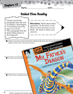 My Father's Dragon Close Reading and Text-Dependent Questions (Great Works Series)