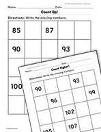 Number and Operations in Base Ten: Counting by Ones Practice