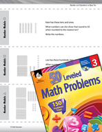 Number and Operations in Base Ten Leveled Problems: Base-Ten Blocks and Rounding