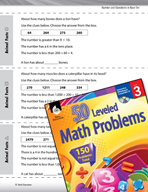 Number and Operations in Base Ten Leveled Problems: Complete the Math Story