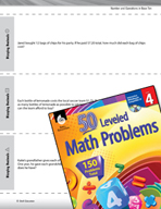 Number and Operations in Base Ten Leveled Problems: Dividing Decimals
