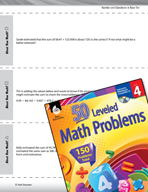 Number and Operations in Base Ten Leveled Problems: Estimation Strategies