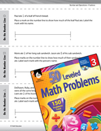 Number and Operations in Base Ten Leveled Problems: Fractions Less Than One