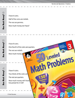 Number and Operations in Base Ten Leveled Problems: How Much Money?