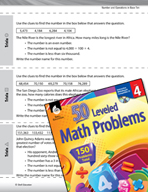 Number and Operations in Base Ten Leveled Problems: Indentify the Number