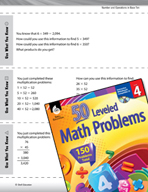 Number and Operations in Base Ten Leveled Problems: Multiplication