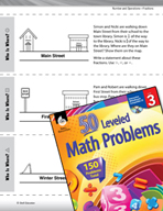 Number and Operations in Base Ten Leveled Problems: Ordering Fractions