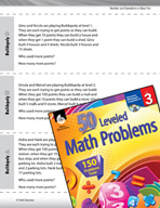 Number and Operations in Base Ten Leveled Problems: Place Value Word Problems