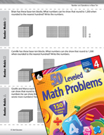 Number and Operations in Base Ten Leveled Problems: Round