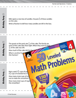 Number and Operations with Fractions Leveled Problems: Add and Subtract