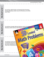Number and Operations with Fractions Leveled Problems: Comparing Decimals
