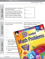 Number and Operations with Fractions Leveled Problems: Create and Order Decimals