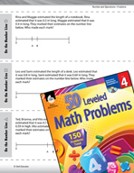 Number and Operations with Fractions Leveled Problems: Decimals and Number Lines