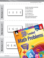 Number and Operations with Fractions Leveled Problems: Equal, Greater, Less Than