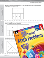 Number and Operations with Fractions Leveled Problems: Fractional Areas
