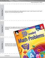 Number and Operations with Fractions Leveled Problems: Fractional Sums