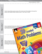 Number and Operations with Fractions Leveled Problems: Order Mixed Numbers