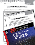 Number the Stars Close Reading and Text-Dependent Questions (Great Works Series)