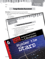 Number the Stars Comprehension Assessment (Great Works Series)