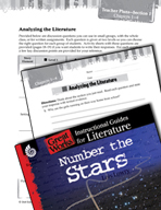 Number the Stars Leveled Comprehension Questions (Great Works Series)