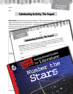Number the Stars Post-Reading Activities (Great Works Series)