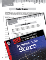 Number the Stars Reader Response Writing Prompts (Great Works Series)