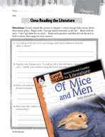Of Mice and Men Close Reading and Text-Dependent Questions (Great Works Series)