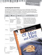 Of Mice and Men Leveled Comprehension Questions (Great Works Series)