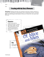 Of Mice and Men Studying the Story Elements (Great Works Series)
