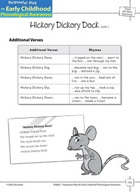 Onset and Rime Awareness: Producing Rhyming Words - Hickory Dickory Dock