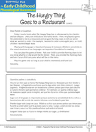 Onset and Rime Awareness: Rhyming Words - The Hungry Thing Goes to a Restaurant