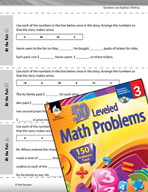 Operations and Algebraic Thinking Leveled Problems: Complete the Math Story