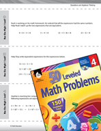 Operations and Algebraic Thinking Leveled Problems: Equivalent Expressions