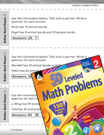 Operations and Algebraic Thinking Leveled Problems: Guess and Check