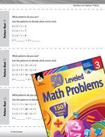 Operations and Algebraic Thinking Leveled Problems: Multiplication Pattern Hunt
