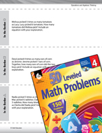 Operations and Algebraic Thinking Leveled Problems: Multiplying Whole Numbers
