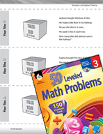 Operations and Algebraic Thinking Leveled Problems: Multiplying and Area Models