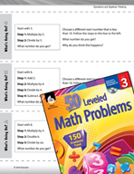 Operations and Algebraic Thinking Leveled Problems: Operations Relationships