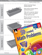 Operations and Algebraic Thinking Leveled Problems: Pictures and Equal Groups