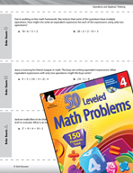 Operations and Algebraic Thinking Leveled Problems: Simplifying Expressions