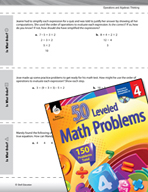 Operations and Algebraic Thinking Leveled Problems: The Order of Operations